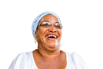 Brazilian woman of African descent smiling
