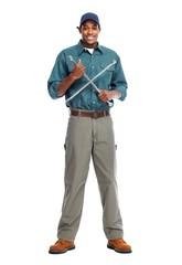 African American worker man.