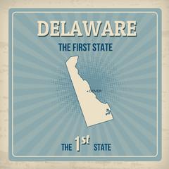 Delaware retro poster