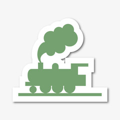 Logo passage à niveau. Train.