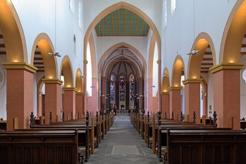 Interior of the church of St. Suitbertus in Kaiserswerth, German