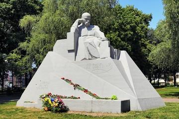 Monument of Taras Shevchenko in Poltava, Ukraine