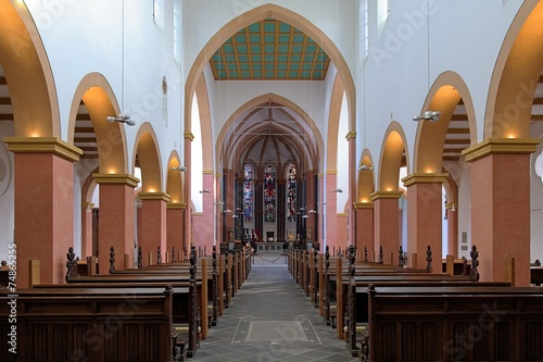 Interior of the church of St. Suitbertus in Kaiserswerth, German - 74865255