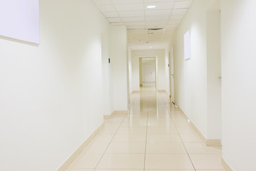 white corridor in the office building