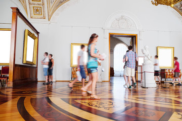 SAINT-PETERSBURG, RUSSIA -AUGUST 10: Interior of  Hermitage