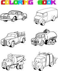 outline cartoon car