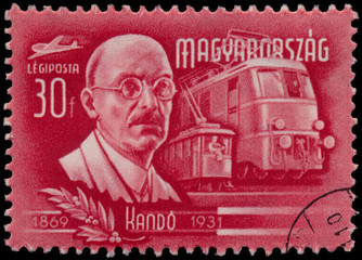 Stamp printed by Hungary, shows Kando