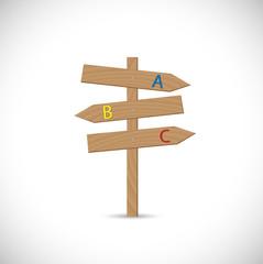 Wooden Signpost Illustration