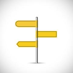 Yellow Signpost Illustration