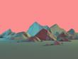 canvas print picture - Low-Poly 3D Mountain Landscape with Pastels