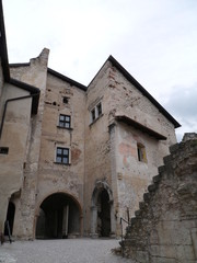Castel Beseno atop a hill in Besenello  Italy