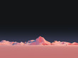 Low-Poly Mountain Landscape at Night - 74867225