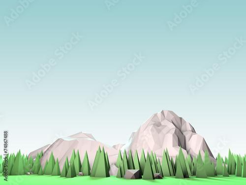 Geometric 3d Mountain