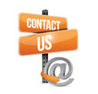 contact us online sign concept illustration