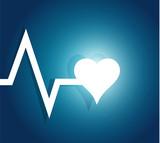 lifeline and heart. illustration design poster