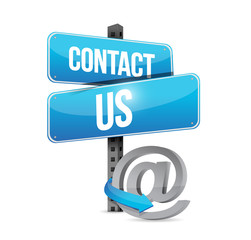 contact us sign and online symbol