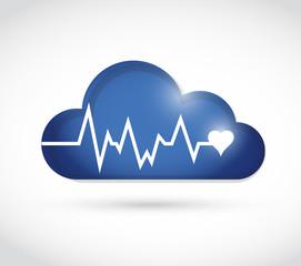 lifeline over a cloud. illustration design