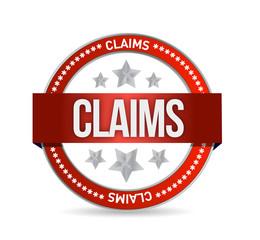 claims seal illustration design