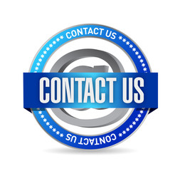 contact us seal illustration design