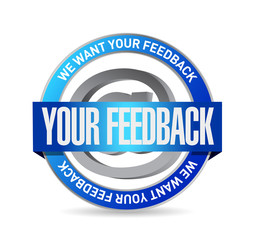 your feedback seal illustration design