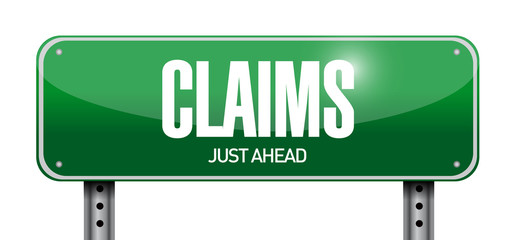 claims street sign illustration design