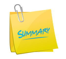 summary memo post illustration design