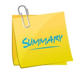 summary memo post illustration design