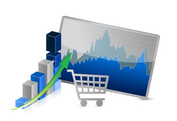 business shopping sales graphs