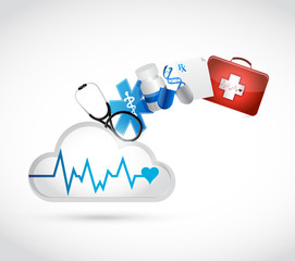 medical concept cloud illustration design