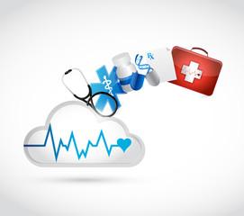 medical concept cloud illustration design