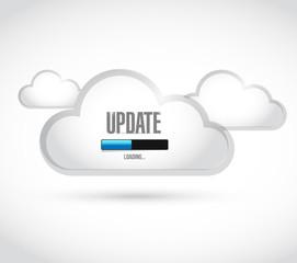 update loading bar cloud illustration