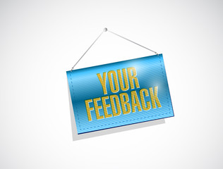 your feedback hanging banner illustration