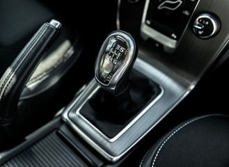 Closeup photo of car gearbox