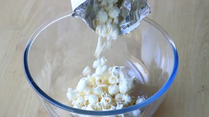 Popcorn in  the bowl