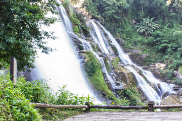 Wachirathan waterfall, Doi Inthanon National Park in Chiang Mai,
