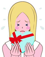 恥ずかしがる女性 バレンタイン