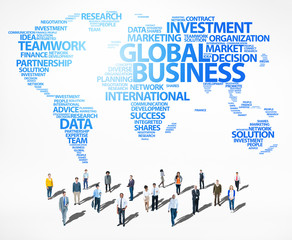 Global Business Success Growth Investment Diverse Ethnic Concept