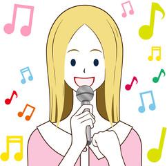 女性 歌う 元気