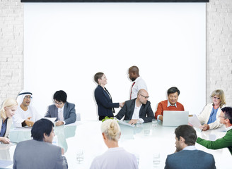 Business People Corporate Meeting Presentation Corporate Concept