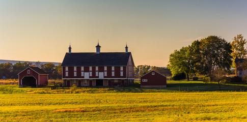 Barn on a farm in Gettysburg, Pennsylvania.
