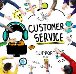 Customer Service Assistance Guide Concept