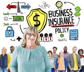 Multi Ethnic People Team Leadership Business Insurance Concept