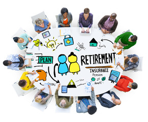 Diversity Casual People Career Retirement Discussion Concept