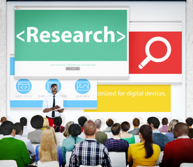 Research Review Analysis Study Search Conference Concept