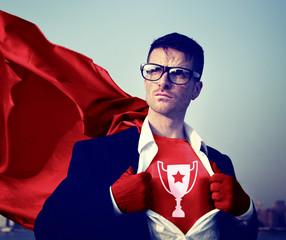 Trophy Strong Superhero Success Professional Empowerment Stock C