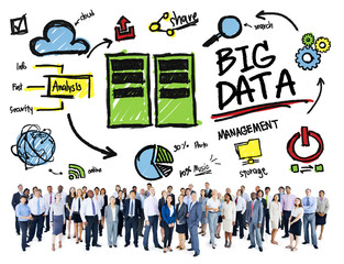 Diversity Business Big Data Management Concept