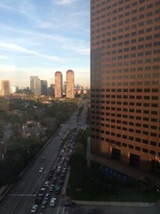 Heavy traffic in rush hour from Houston's Uptown to I610 Loop