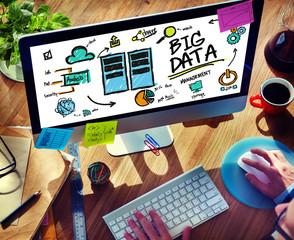 Businessman Big Data Information Working Concept
