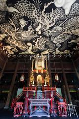 Twin Dragons painting at Kennin-ji temple in Kyoto