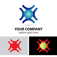 Abstract business logo design template